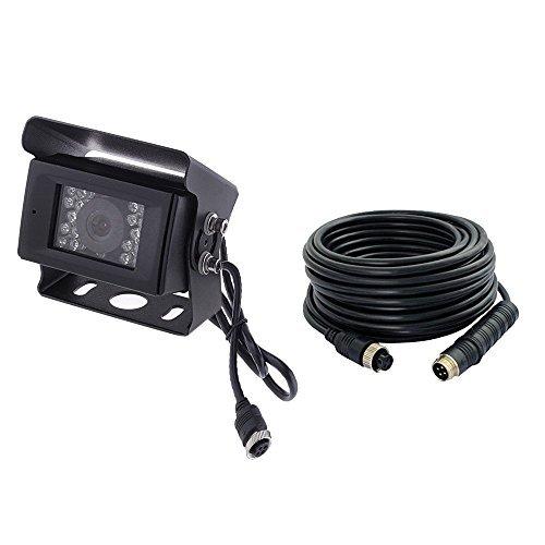 Camecho 12V-24V 4 Pins 18 LEDs IR-Nachtsicht wasserdicht Kamera + 15 m / 66FT 4 Pins Kabel für Auto/Bus/LKW/Anhänger/Wohnwagen/Wohnmobil/Heavy - Camera Backup Wireless Rear View