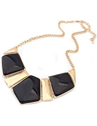 Bold N Elegant Vintage Bib Statement Gold Plated Choker Chain Collar Enamel Necklace For Women And Girls