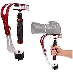 globalma portátil funcional aleación de aluminio Handheld Steadycam Vídeo Estabilizador para Cámaras Réflex Digitales, cámara de acción y deportes, Capacidad de carga 1,5kg (3.3libras