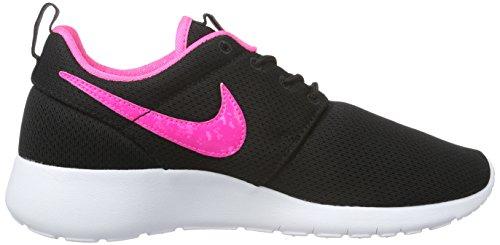 Nike Roshe One (Gs), Chaussures de Running Garçon Schwarz (014 BLACK/PINK BLAST-WHITE)