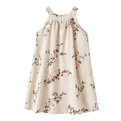 Baby Mädchen Prinzessin Kleid Blumenmädchen Kleid Rüschen festes Leinen elegantes Kleid festliches Kleid Hochzeit Geburtstag Party Kleid Festzug Babywear Outfits (Blumenmädchen Kleid Elegante)