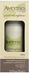 Aveeno Active Naturals Positively Ageless Lifting & Firming Eye Cream with Natural Shitake Complex, 0.5 Ounce by Aveeno