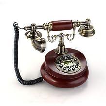 Teléfono Fijo Antiguo Vintage Retro Resina Casa Mesa Oficina
