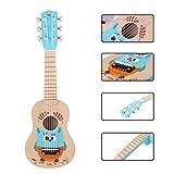 Foxom Guitarra para Niños, 21 Pulgadas 6 Cuerdas Madera Guitarra Juguetes - Instrumento Musical para Niño y Niña de 3 años +