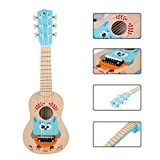 Foxom Guitarra para Niños, 21 Pulgadas 6 Cuerdas Madera Guitarra Juguetes - Instrumento Musical...