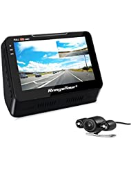 Dash Cam, Dual Lens Car Dash Camera Recorder 1080P FHD 170 Degree Wide Angle 4.3 Inch Front and Rear with Night vision, G-SENSOR, Loop Recording ,Parking Monitor and LCD Screen