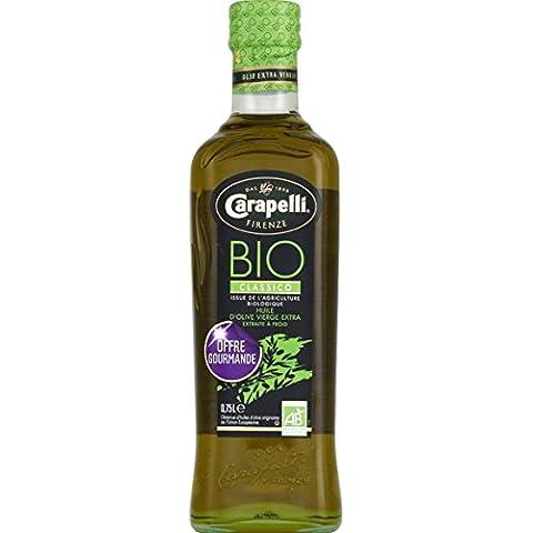 Carapelli - Huile d'olive vierge extra bio classico offre gourmande - La bouteille - (pour la quantité plus que 1 nous vous remboursons le port supplémentaire)