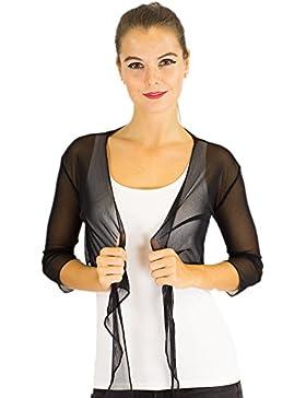 Bolero de gasa manga larga, manga 3/4, chaqueta torera, novia, grupos de danza