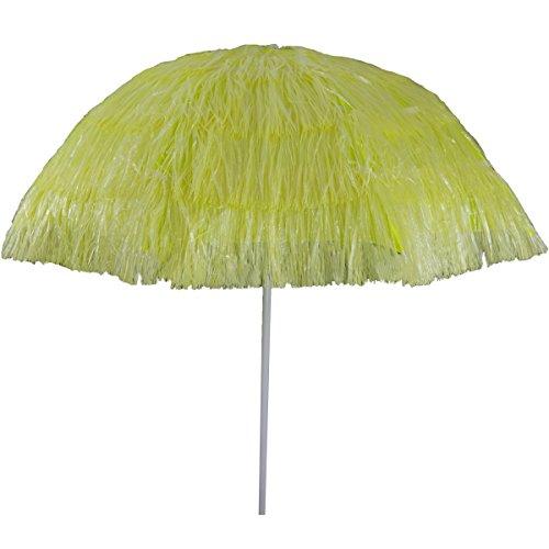 Strand-Sonnenschirm Hawaii-Look 140 cm Sonnenschutz Schirm Sonnenschirm, Farbe:gelb