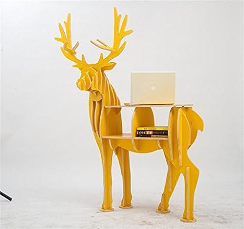 Étagère pour animaux de la NAATOOD Étagères Elk Pour le salon Étagères décoratives Porte-planchers Couture en bois 100 * 23* 125cm , shuiquliu color turned wood laminate [] convenient