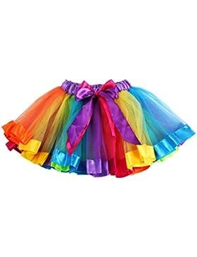 Vestido de niña, RETUROM Falda atractiva del bowknot del arco iris de los cabritos de las muchachas