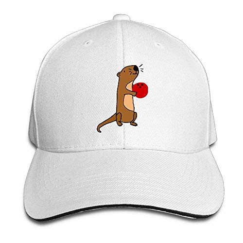 cvbnch Baseball Caps für Herren/Damen,Unisex Cute Sea Otter Bowling Trucker Cap Adjustable Peaked Sandwich Cap Unique Hiking Hats