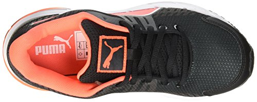 Puma Sequence V2 Wn, Chaussures de course femme Noir - Schwarz (black-fluo peach-white 02)