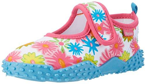 Playshoes Unisex-Kinder Badeschuhe Blumenmeer mit UV-Schutz Aqua Schuhe, Pink (Pink), 28/29 EU