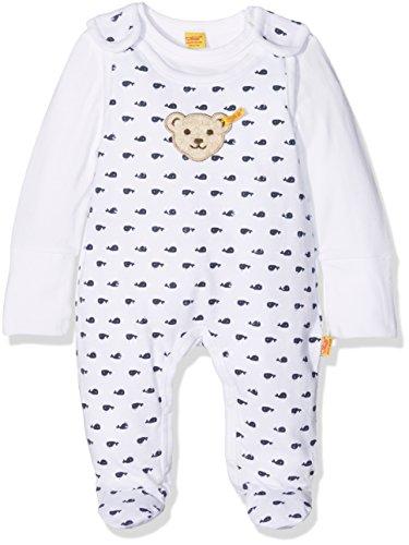 Steiff Baby-Jungen 2tlg. Set Strampler + T-Shirt 1/1 A, Blau (Marine 3032), 56 (Herstellergröße:56)