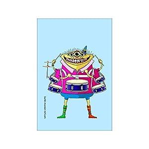 Kühlschrankmagnet – Magnetfolie mit hochwertigem farbigen Druck. Dein Supermagnet mit coolem Monster-Motiv von BERLIN-monster-ART – Drummer