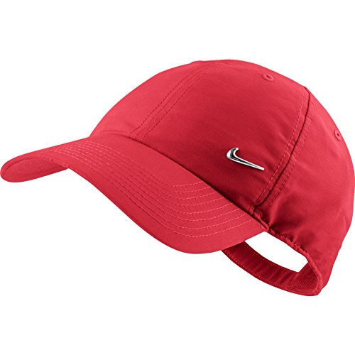 NIKE Kappe Metal Swoosh Logo, University Red/Metallic Silver, One size, 340225-657