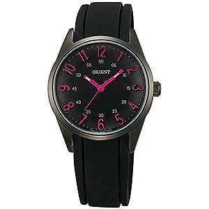 Orient Reloj Analógico para Mujer de Cuarzo con Correa en Caucho FQC0R001B0