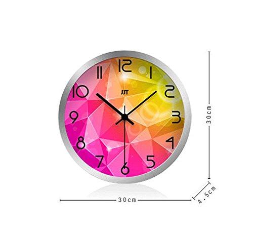 LYX1,Wanduhren Europäische Kunst-stumme kreative runde Uhr lautlos (größe : S)