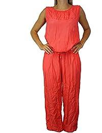 SAXX Damen Overall OneSize Coral Pfirsich Saxxmoda Damenmode Jumpsuit #O130