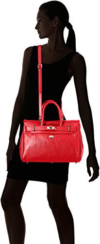 Borsa Da Donna Douglas Dama Pyla Buni Xs, 12,5x25x34,5 Cm Rosso (rouge Fraise)