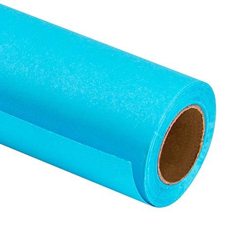 RUSPEPA Blue Kraft Packpapier - 81,5 Quadratmeter Schweres Papier Für Hochzeit, Geburtstag, Dusche, Glückwunsch Und Weihnachtsgeschenke - 76Cm X 10M Pro Rolle