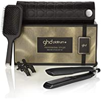 GHD Healthier Styling Gift Set - Plancha de pelo profesional GHD platinum+ y cepillo GHD paddle