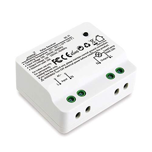Didikit Smart Schalter Empfänger Relais Modul WiFi und Fernbedienung Intelligentes System für Auf-/Unterputz Kompatibel mit Alexa, Echo Dot und Google Home