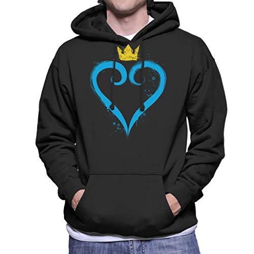Cloud City 7 Kingdom Hearts Crown Heart Men's Hooded Sweatshirt Cloud Strife Kingdom Hearts