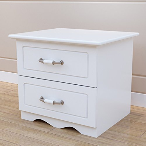 Comodino bianca europeo dipingere doppio cassetto armadietti cassettiera