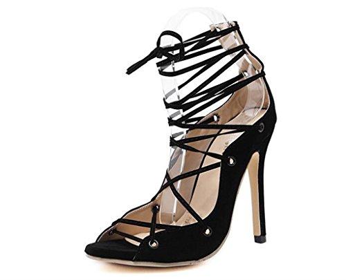 ALUK- Europe et États-Unis - Chaussures de printemps et d'été Chaussures sexy à talons hauts Chaussures pour femmes ( Couleur : Noir , taille : 36 ) Noir