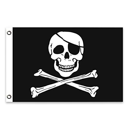 Bandera de Pirata 150×90cm para La Decoración del Lugar Parezca...