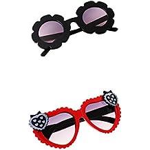 fa4277ad1f MagiDeal 2Pcs Gafas de Sol Plásticas Anteojos Floral Juguetes Educativos  Decoración de Habitación