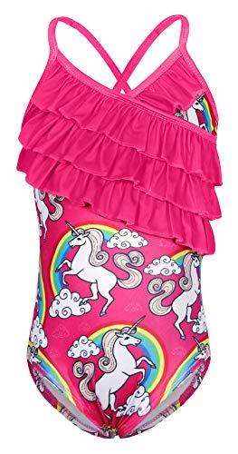 Jurebecia Ragazze Unicorno Un Pezzo Costumi da Bagno Bambina Costume da Bagno Bambini Piscina Spiaggia Vacanza