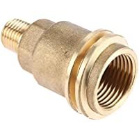 Mtsooning Brass QCC1 ACME Nut Propane Gas Fitting Adapter with 1/4 Inch Male Pipe Thread