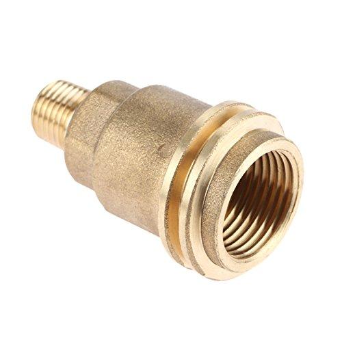 Mtsooning Laiton Qcc1 Acme Écrou Raccord de gaz propane adaptateur avec filetage 1/10,2 cm mâle tuyau