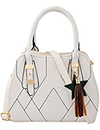 Mark & Keith Women White Handbag (MBG 0542 WH)