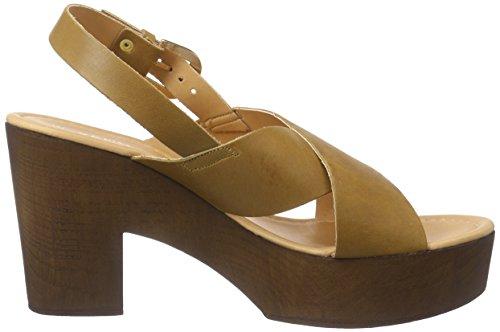 VERO MODA VMFLICA Leather Sandal, Damen Clogs, Braun (Cognac), 37 EU