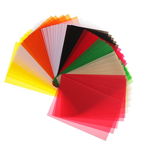 MagiDeal 50 Pieces 15x10cm Vellum Coloured Translucent Tracing Papers for DIY Card making