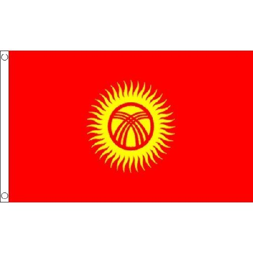 Kyrgyzstan Flag 5Ft X 3Ft Kirghizia Asia Asian Country Banner With 2 Eyelets New by Kyrgyzstan -