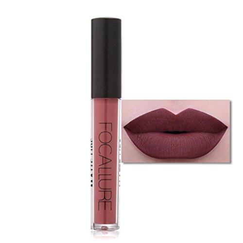 1pc Lip Gloss Brillant à lèvres mat Cosmétiques à lèvres Femmes Lèvres sexy Fête, #12
