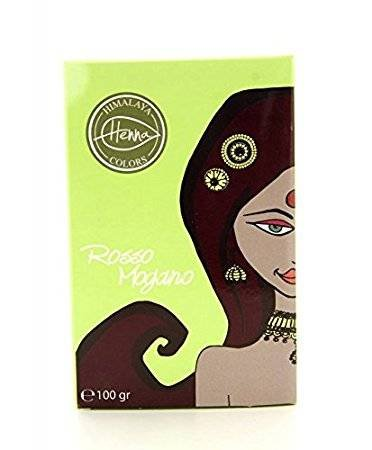 HIMALAYA - Poudre Colorante pour les Cheveux - Acajou Rouge - Couvre les Cheveux Gris - Protège et Nourrit - Non Testé sur les Animaux - 100 g