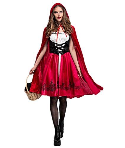 Disfraz de Criada para Mujer traje medieval Cosplay Caperucita Halloween Talla M