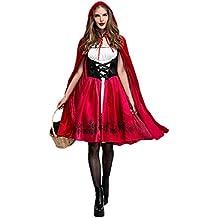 Disfraz de Criada para Mujer traje medieval Cosplay Caperucita Halloween