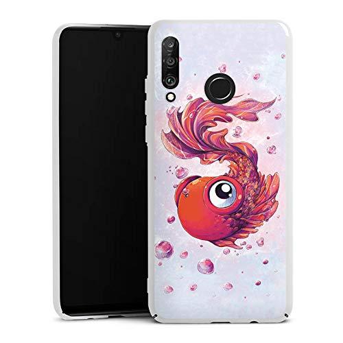DeinDesign Hülle kompatibel mit Huawei P30 Lite Handyhülle Case Fisch Goldfisch Comic -