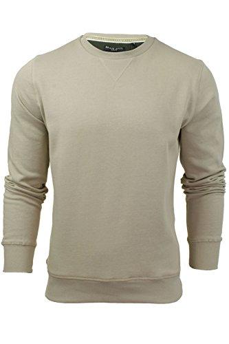 Brave Soul Mens Jonesk Crew Neck Sweatshirt Jumper Mushroom Beige -X-Large 5e7b2f7caea4