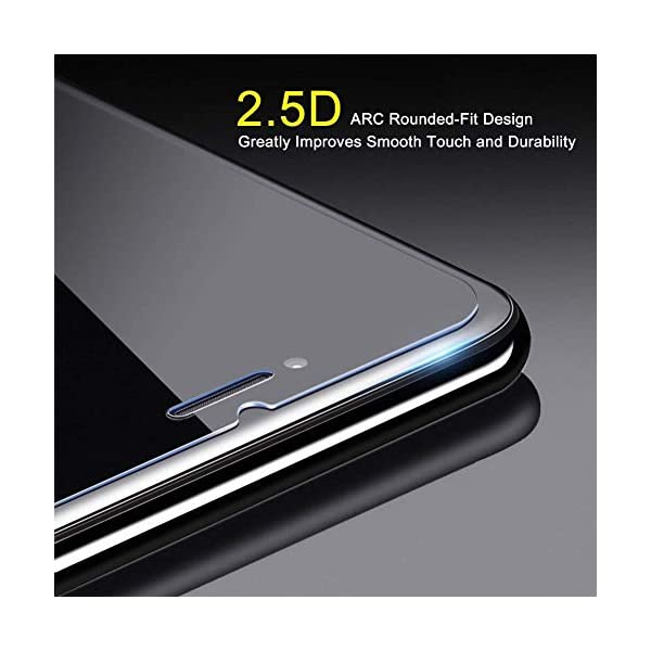 Ramcox Protector de Pantalla para Huawei Honor 8C, Alta Sensible Vidrio Templado Protector de Pantalla Compatible con 3D… 4
