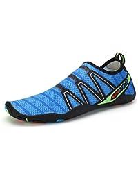 AFFINEST Unisex Zapatos de Agua Deportivos descalzo de Secado Rápido Respirable Piscina Playa Para Hombre Surf Yoga Water Shoes(Azul,31)