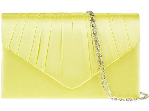 fi9® - Cartera de mano para mujer Varios Colores amarillo