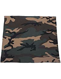 Bandana militaire US Army - Woodland camouflage - 55 cm x 55 cm - Airsoft - Paintball - Moto - Biker - Outdoor